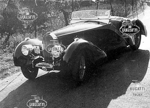 1935 Worblaufen Bugatti T57 Grand Raid Roadster #57246 b