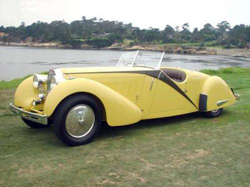 1935 Worblaufen Bugatti T57 Grand Raid Roadster #57246 c