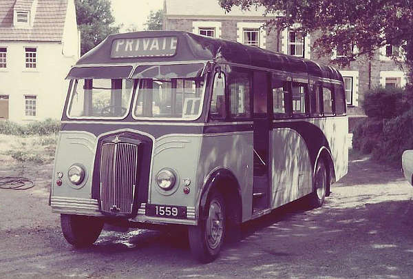 1936 Albion rebodied in 1955 with a Reading B32F body and gaining a Morris engine-radiator in 1963