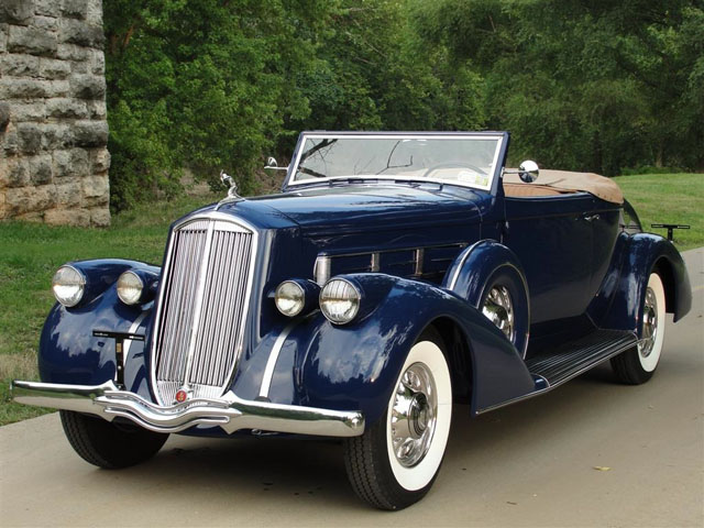 1936 V-12-powered Pierce-Arrow 1602 Salon convertible coupe roadster