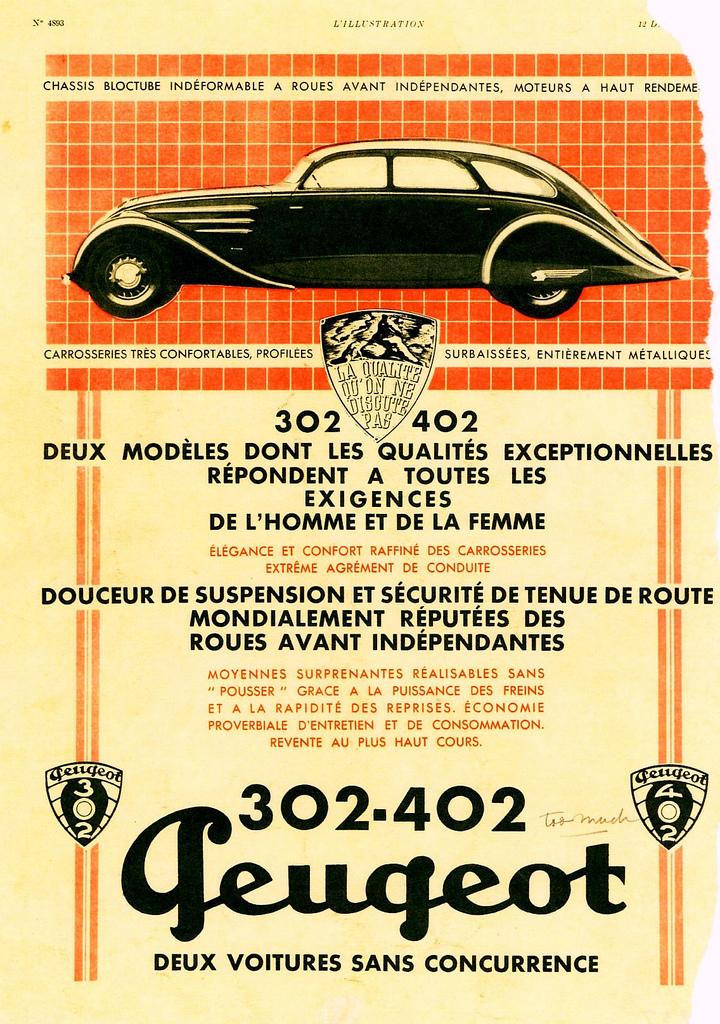 1937 Peugeot 302 & 402
