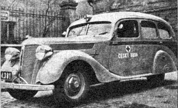 1938 Ambulance Praga Lady jako ambulans