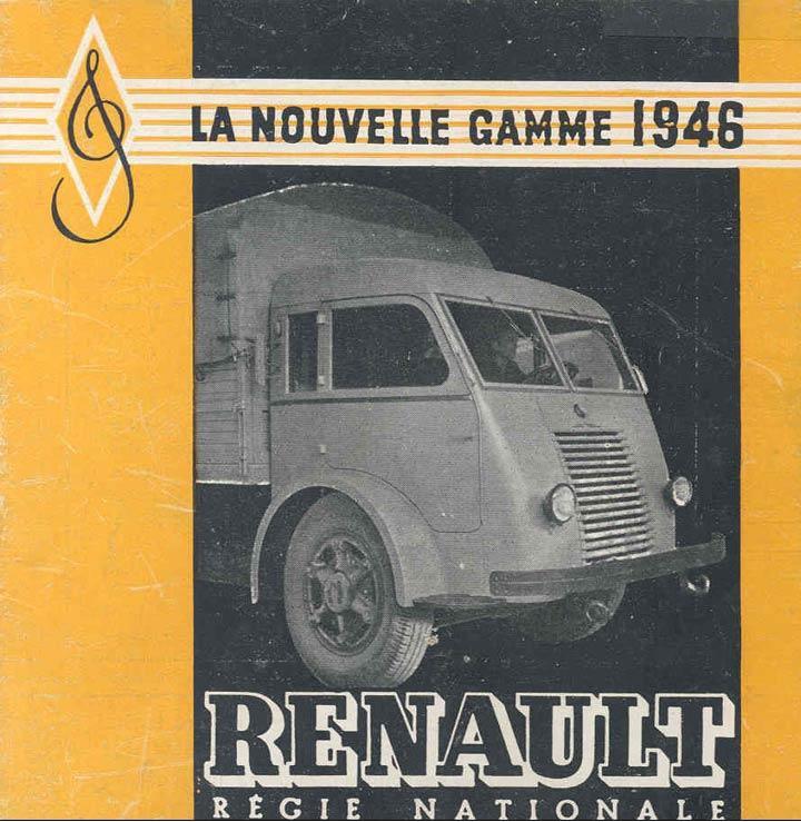 1946 RENAULT 208 D, moteur 4 cyl, de 85 cv pour une charge utile de 5 à 7 tonnes