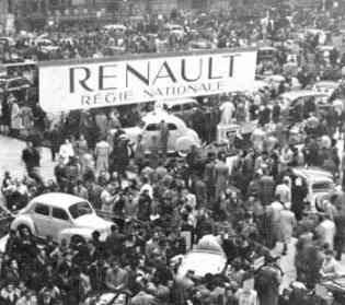 1946 stamboom Renault Regie Nationale autosalon