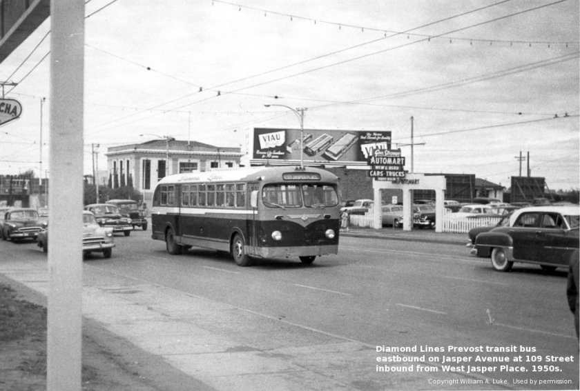 1947-64 Jasper Place Diamond Lines Prevost (William A. Luke) Diamond Bus Lines Ltd.