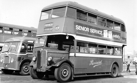 1947 AEC Regent II with Reading H56R body fho602