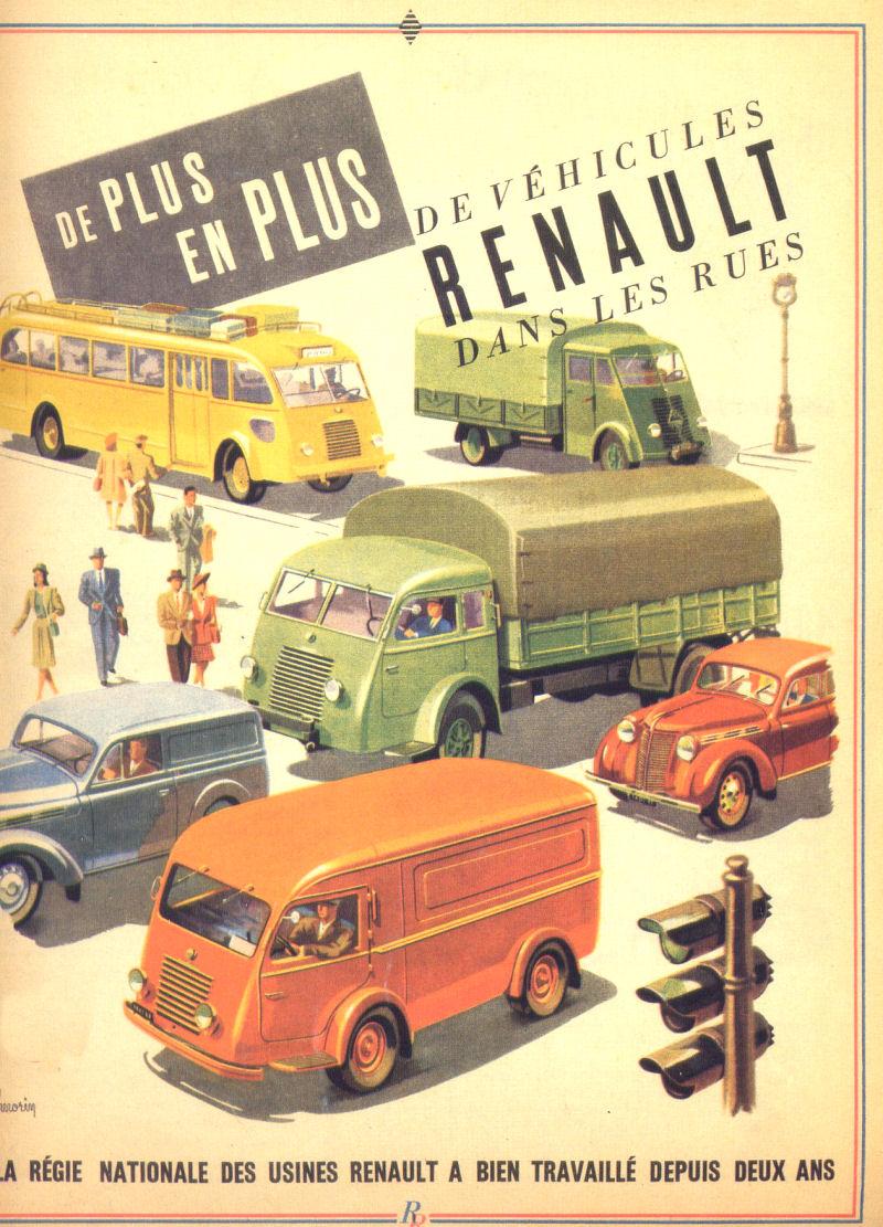 1947 LE DÉPLIANT RENAULT