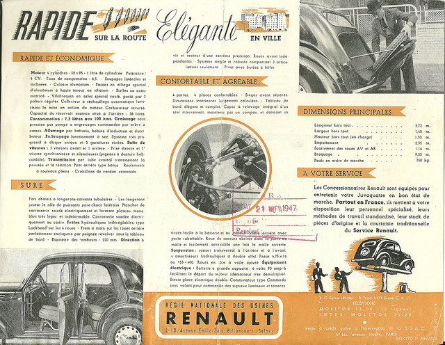 1947 Renault ad
