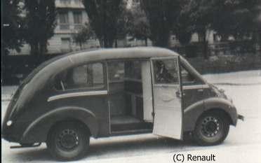 1948 Renault Juvaquatre Taxi 49 Rosengart taxidroit