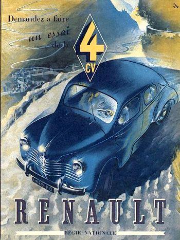 1949 Renault 4 cv berline luxe tyl