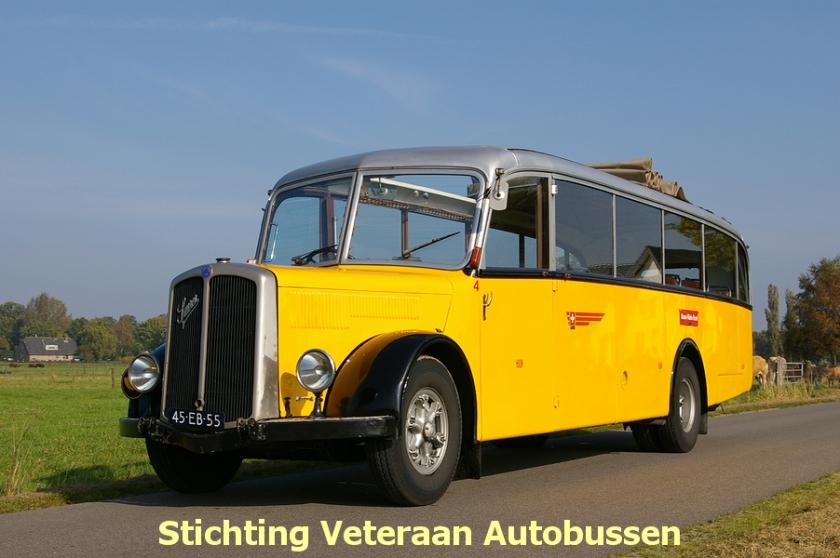 1950 Berna 3, Zwitsers, chassis en motor Saurer carrosserie van Ramseier & Jenzer