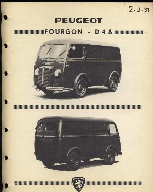 1950 Peugeot Fourgon D4A