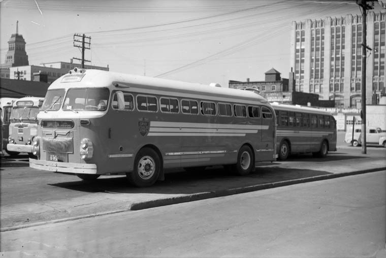 1950 Prevost GCL 618 on Toronto Bus Terminal 1955