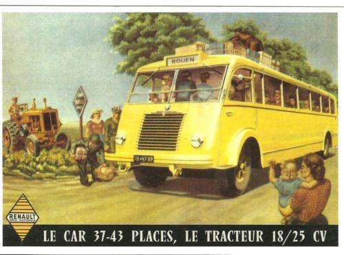 1950 Renault 18-25cv Le Car 37-43places Ad