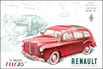 1950 renault taxi colorale HR