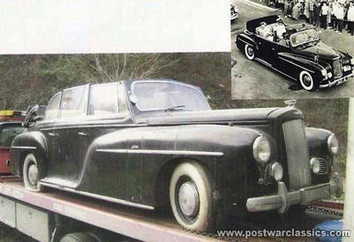 1951 Pennock Austin LWB Sheerline Princess 6-window Convertible Limousine Koningin Juliana