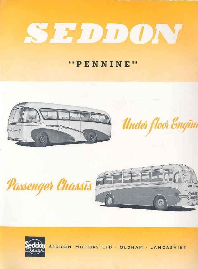 1951 Seddon Pennine Mark 10-11 Diesel Bus Brochure wp776-XFH39T