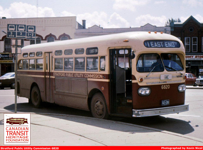 1952 Prevost Citadin Stratford Transit 6820 - August 1975 - Kevin Nicol Photo