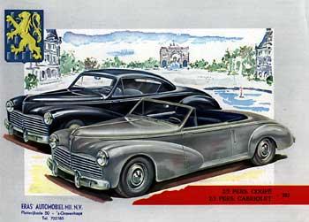 1953 peugeot 203 coupe et convertible