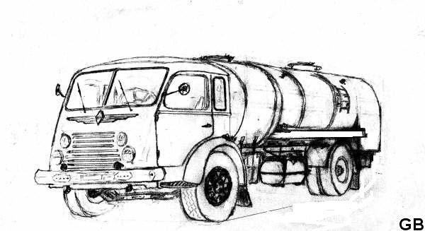 1953 RENAULT ( fainéant ) 6 cyl , 105 cv, citerne 50 hl et container de 20 hl, pinardier, acheté neuf par mon Grand-Père