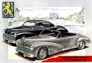 1954 peugeot 203 coupe i cabrio