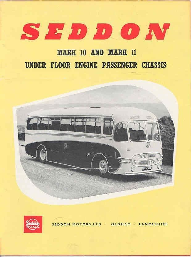 1954 Seddon Mark 10 & 11 Bus Sales Brochure wb4441-S75ZSW