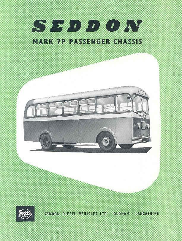 1954 Seddon Mark 7P Bus Brochure wj7851-N2AJHX