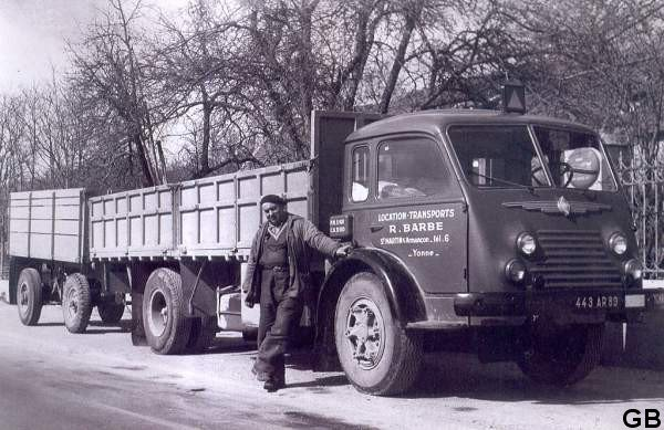 1955 RENAULT fainéant 4153, 10 tonnes utiles, 120 cv+ sa remorque de 5 tonnes