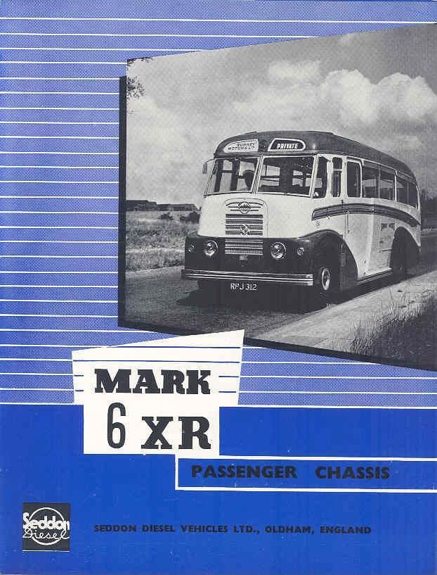 1955 Seddon Mark 6 XR Bus Brochure & Factory Letter wp771-G2NCQP