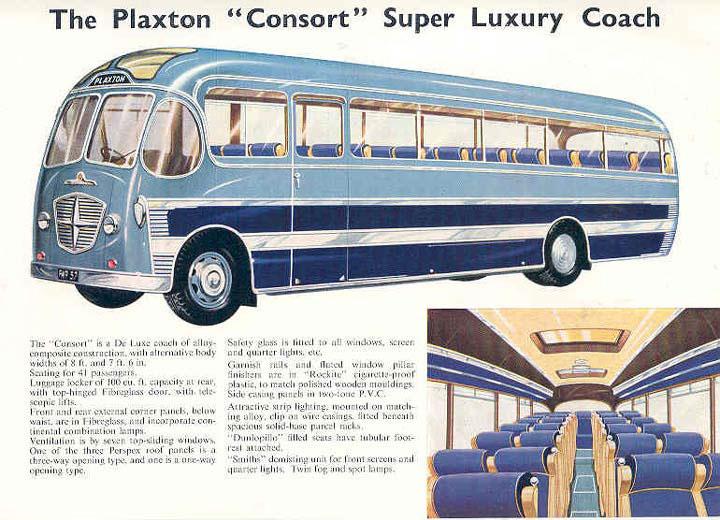 1956 plaxton consort bus brochure Bedford