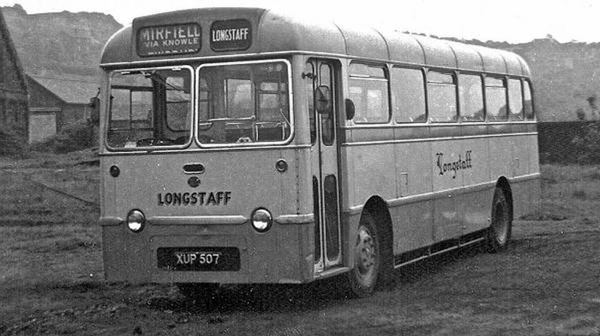 1957 Albion Aberdonian with Plaxton B45F body , one of two delivered to Armstrongs of Ebchester
