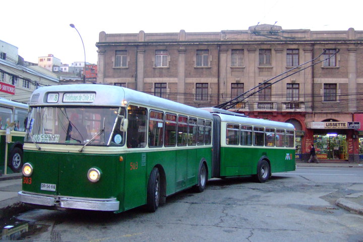 1957 FBW Trolleybus Valparaiso