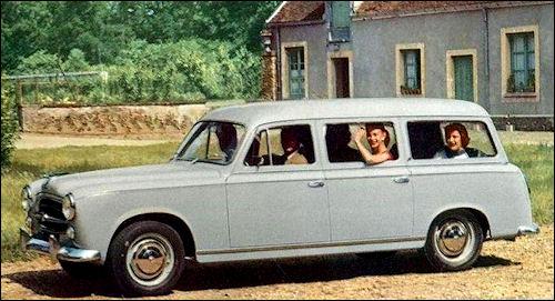 Publicité Peugeot 403 familiale 1958
