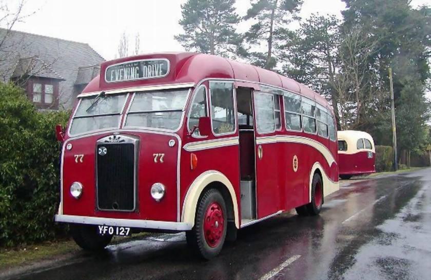 1958 Albion Victor (YFO 127  originally Guernsey 8226  Victor FT39 KAN  Reading B35F)