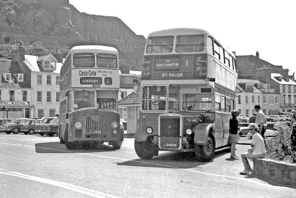 1958 Leyland PD2 52, J1528 and ex-LT RTL260, now JMT 655, J34655 jm655