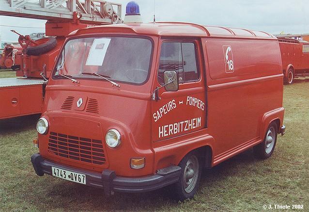 1958 Renault-Estafette-Transp-Kasten-Sapeurs-Pompiers-rot
