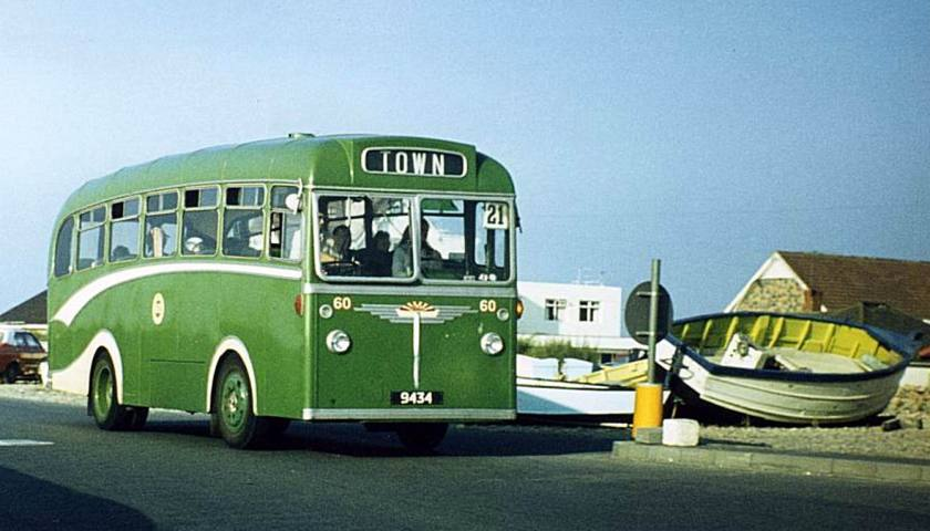 1960 Albion NS3N with a Reading B35F body