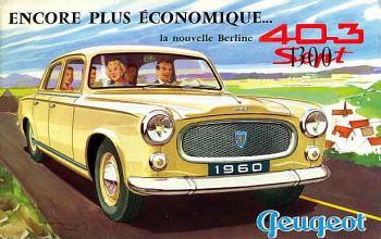 1960 peugeot 403 berline