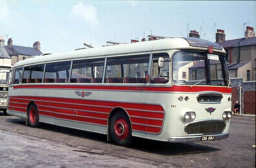 1961 AEC 4MU3RA Reliance with Plaxton Panorama C44F body