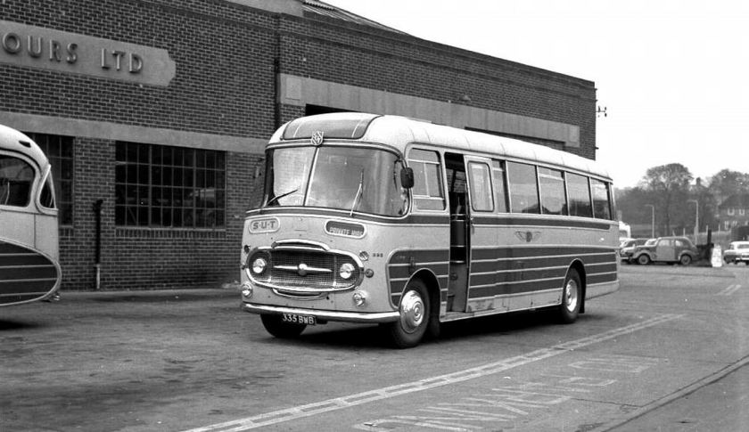 1961 Ford Thames 570E, Plaxton C41F coachwork was carried by 335, 335BWB