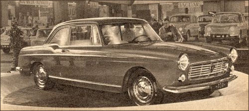 1962 Peugeot 404 Coupe at Earls Court