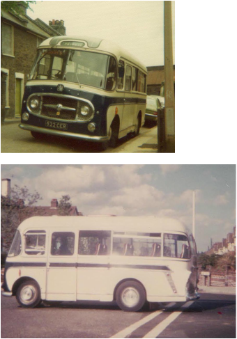 1963 Bedford J2SZ10 with Plaxton Embassy 20 seat