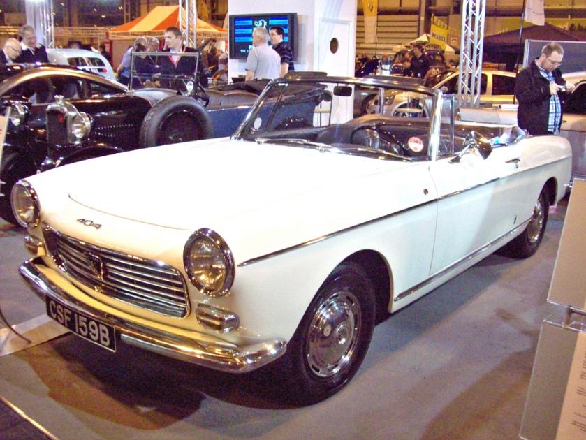 1964 Peugeot 404 Cabriolet Engine 1618cc S4