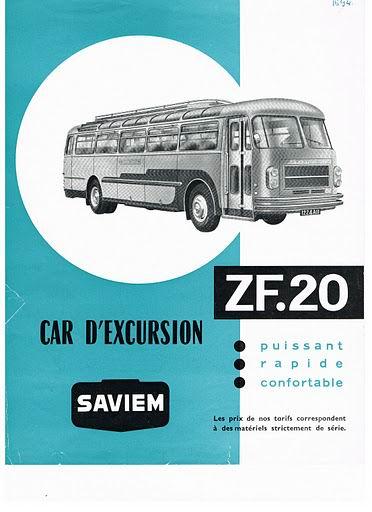1964 SAVIEM ZF 20 boekje 426