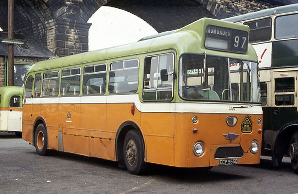 1966 Pennine B39F bodywork was carried by this shortened AEC 6MU3R Reliance