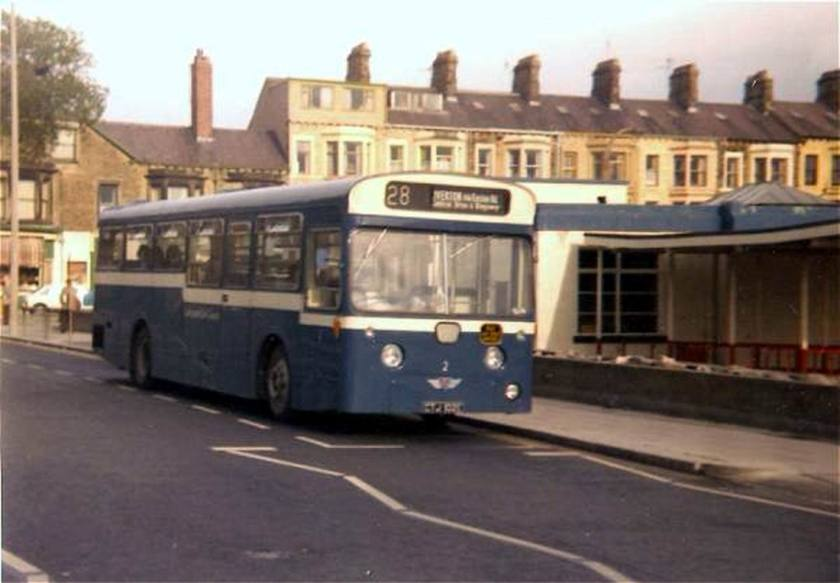 1967 AEC Swift with 50 seat Pennine body originally in the Morecambe & Heysham fleet dates from 1967