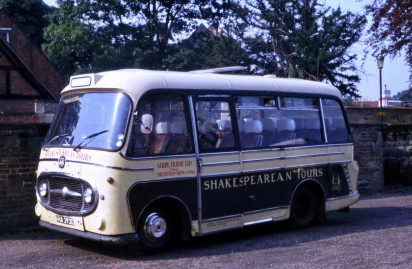 1967 Bedford J2SZ10 with Plaxton C20F bodywork