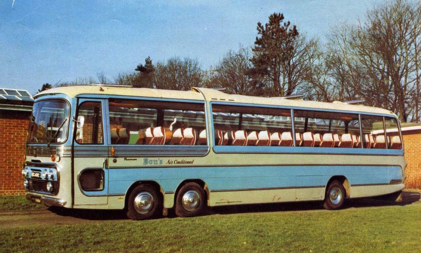 1970 Bedford Val Plaxton Dons Tour Brochure photo