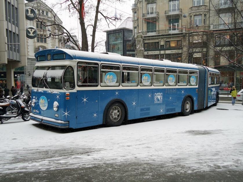 1970 FBW Gelenkbus in Zürich