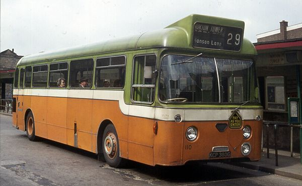 1971 Daimler SRG6LX Fleetline with Pennine B45F body